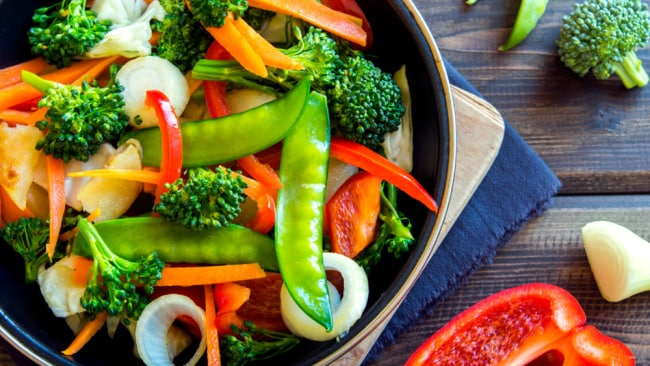 Snap-frozen veggies are perfect for stir-frying, and still retain their nutrients. Source: iStock.