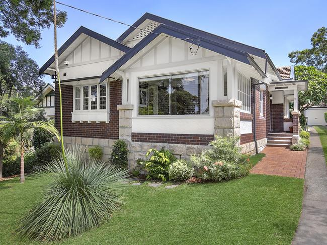 Artarmon saw its median house price climb 28 per cent to $2.56 million. This house sold in March for $2.59 million.