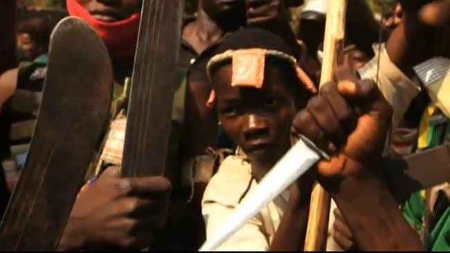 Amateur footage shows a mob in the Central African Republic who attacked and killed a Muslim man with at least one of them eating his flesh.