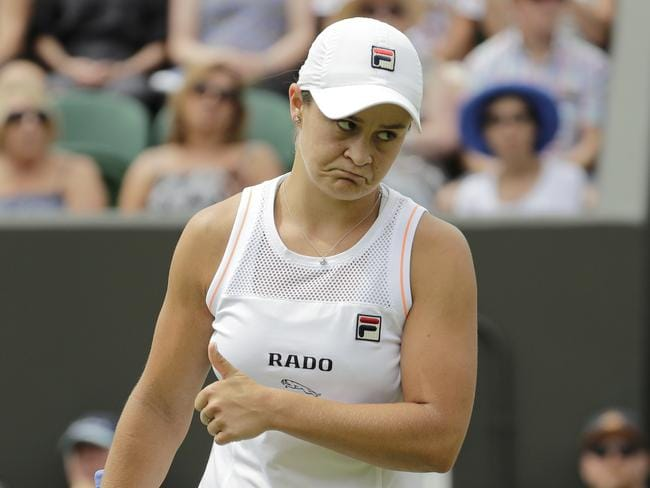 Ash Barty took the loss in her stride.