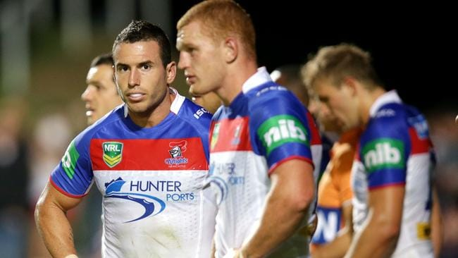 Darius Boyd and Alex McKinnon line up for the Knights against the Sea Eagles at Brookvale Oval