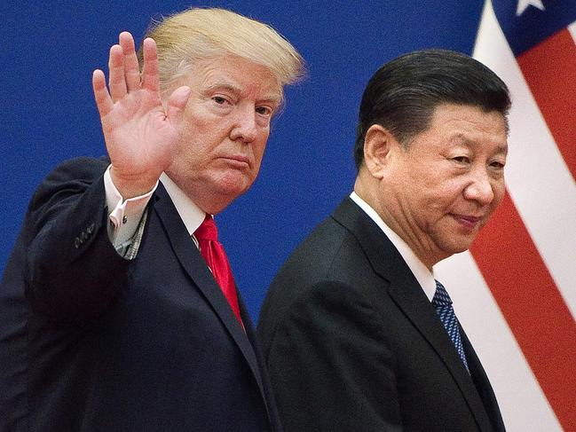 US President Donald Trump (L) and China's President Xi Jinping. Picture: AFP