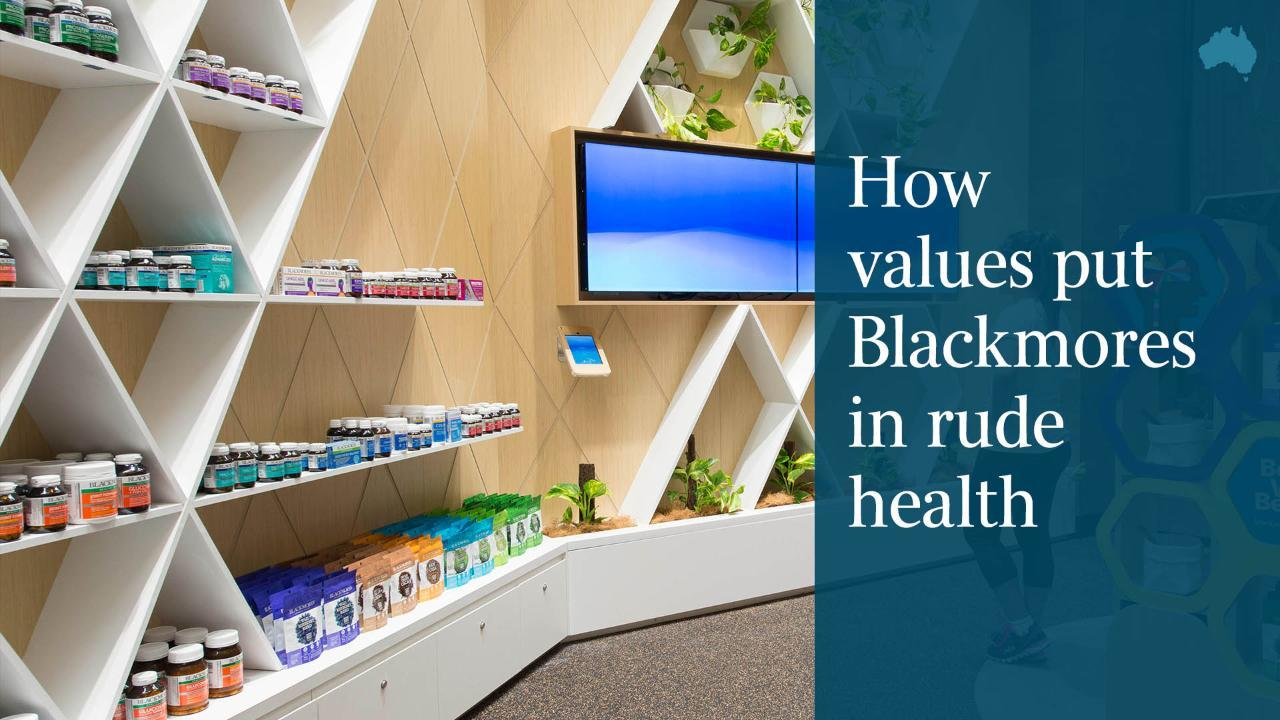 How values put Blackmores in rude health