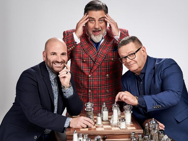 George Calombaris (above with co-hosts), Matt Preston and Gary Mehigan has been under fire after underpaying restaurant staff.