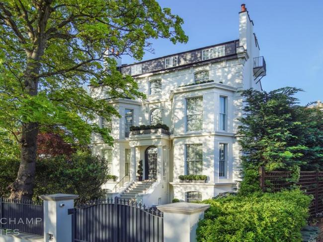 """The view of from the street of the home Rihanna has been living in London. Picture:  <a href=""""https://www.beauchamp.com/buy-property/london/st-johns-wood-for-sale/house-sale-st-john-s-wood-park-nw8-lob0470"""" target=""""_blank"""">Beauchamp</a>"""