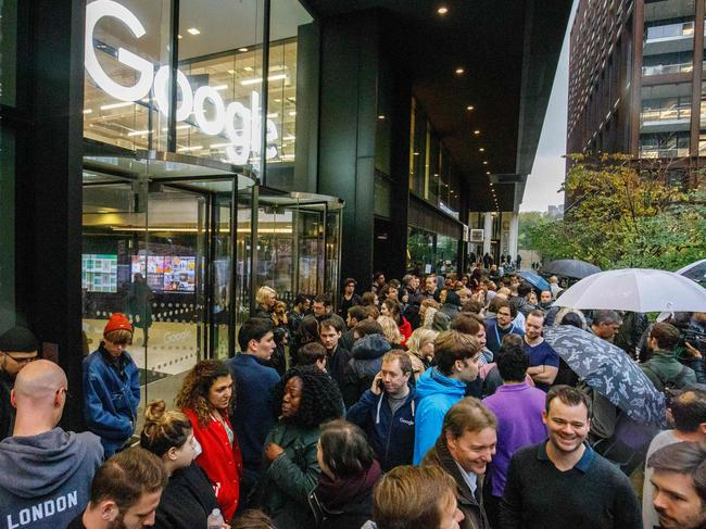 Thousands of Google employees took part in the worldwide mass walkout. Picture: Tolga Akmen/AFP