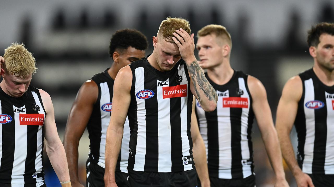 It was a horror night for Collingwood. Photo: Quinn Rooney/Getty Images.