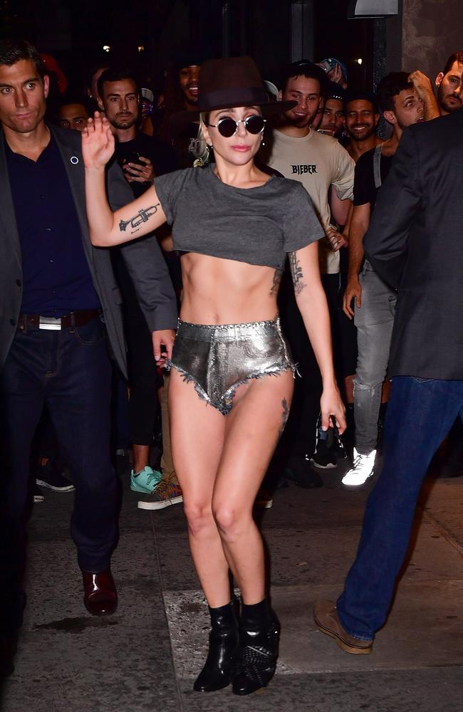Lady Gaga flashed the crowd (without realising it) in NYC. Picture: James Devaney/GC Images