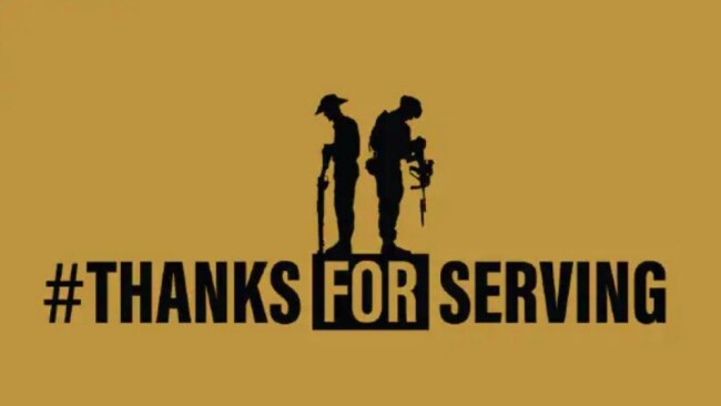 #ThanksForServing: Time to acknowledge our veterans past and present.