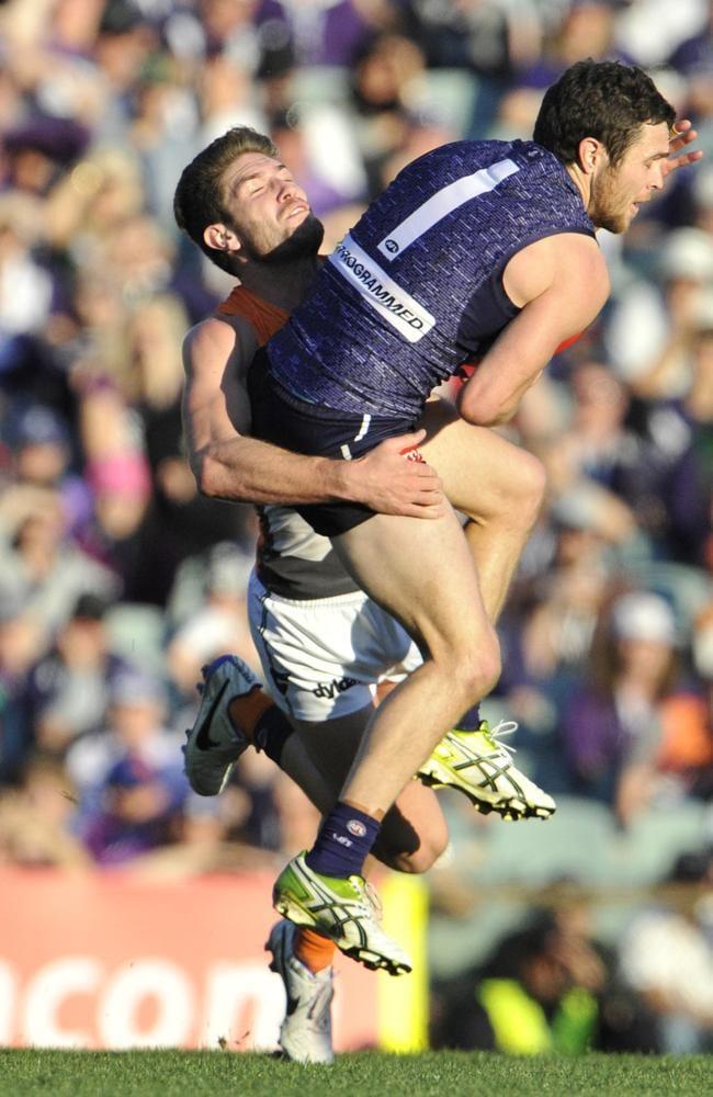 Fremantle's Hayden Ballantyne booted five goals. Picture: Justin Benson-Cooper