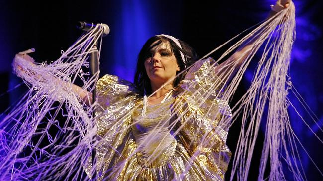 Bjork performing during the Rock en Seine music festival in 2007. Picture: AFP / Guillaume Baptiste