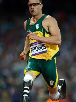 Pistorius competed in the men's 400m semi-finals during the London 2012 Olympic Games. Picture: AFP