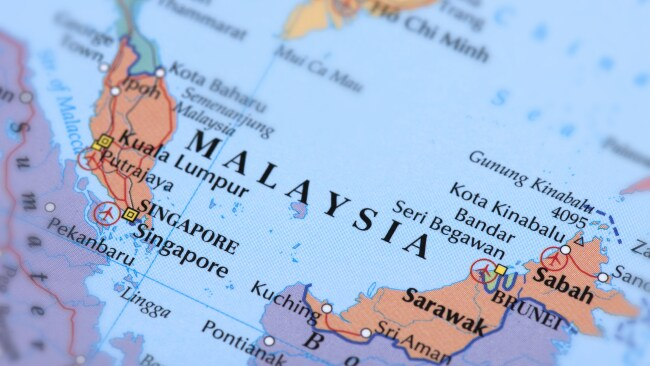 Brunei on the map. Image: Getty.