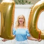 "Reese Witherspoon gets out her best gingham top to celebrate... ""10 million!?! WHAAATTT!!! Thanks you! I love you guys XO. Picture: Reese Witherspoon / Instagram"