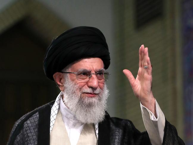 Iran's supreme leader Ayatollah Ali Khamenei warned his country would retaliate against Britain for the seizure of an Iranian tanker. Picture: AFP