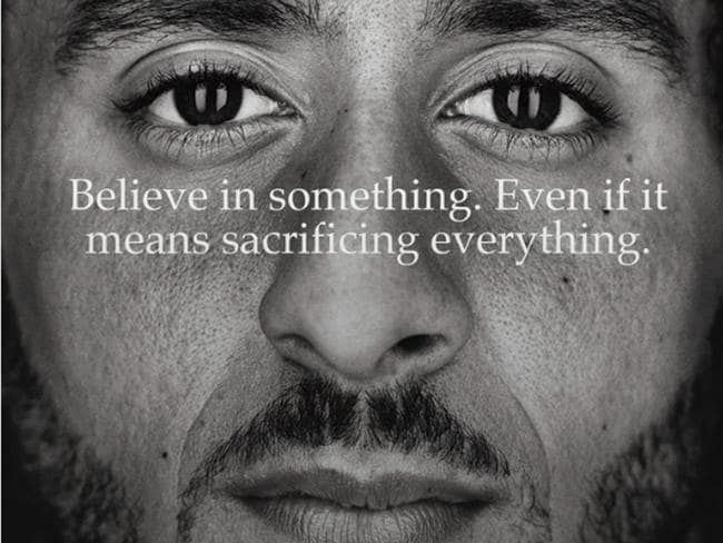 Colin Kaepernick is the face of the entire campaign.