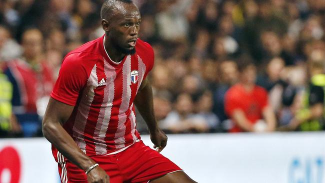 Usain Bolt is considering soccer deals from Texas and the Central Coast Mariners. Picture: AP