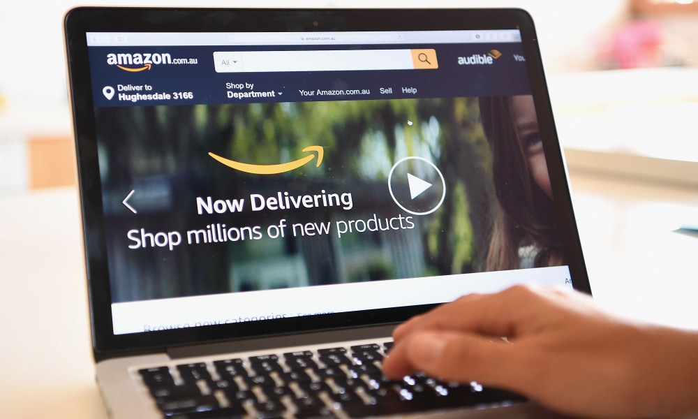 DANDENONG, AUSTRALIA - DECEMBER 05: The Amazon website is seen on December 5, 2017 in Dandenong, Australia. Amazon has ended months of speculation by launching its local website overnight. (Photo by Quinn Rooney/Getty Images)