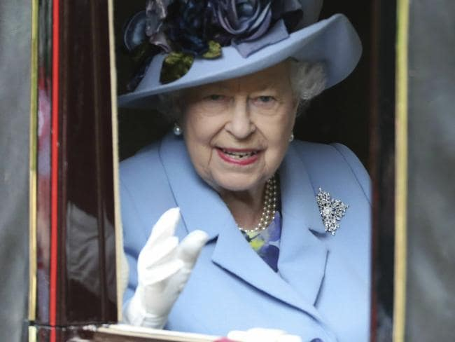 Punters love to bet on the colour of the Queen's hat at the famous British race, her favourite event of the year. Picture: Steve Parsons/PA via AP