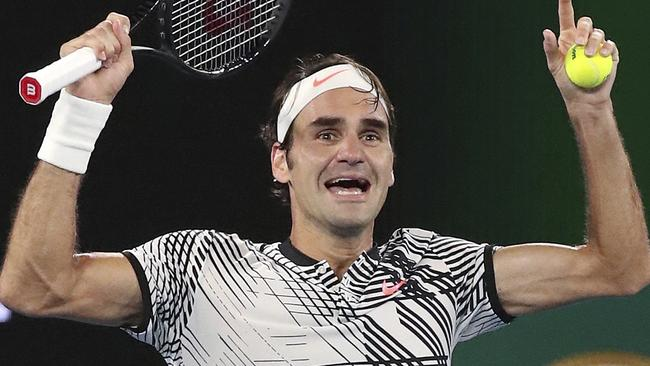 The moment Roger Federer won his 18th grand slam title.