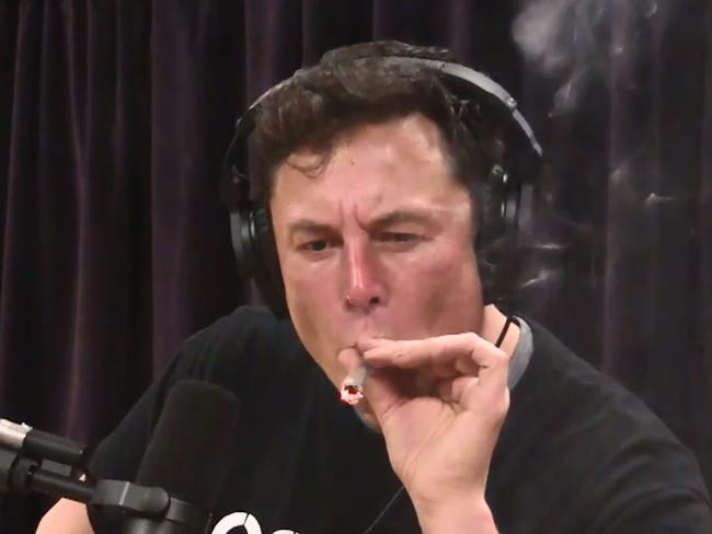 Bit too much of the good stuff this week, Elon? Picture: The Joe Rogan Experience