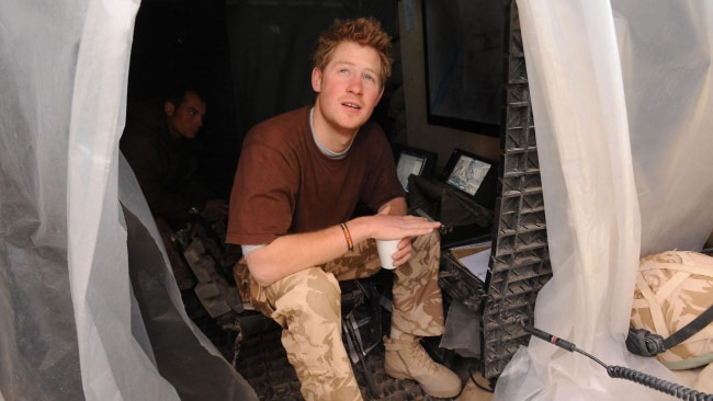 Prince Harry in Helmand province, Southern Afghanistan, 2008. Photo: John Stillwell / Tim Graham / Getty