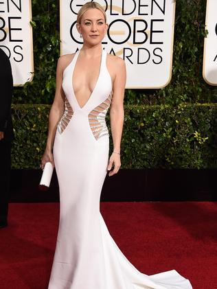Stunning ... Kate Hudson in figure-hugging white. Picture: AP