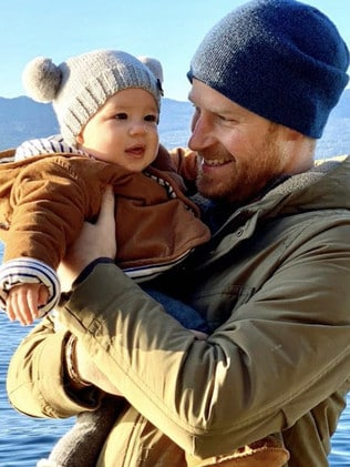 Harry and Archie on Vancouver Island last month. Picture: Sussex Royal