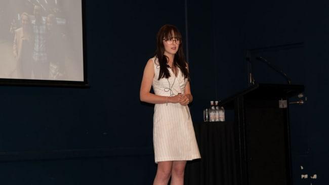 Scientist Katie Glenn spoke at the recent Glassbreakers Remarkable Woman Talks Event. Source: Supplied.