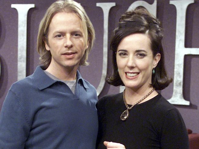 Kate Spade and brother-in-law, David Spade, pictured in 2002. Picture: MEGA