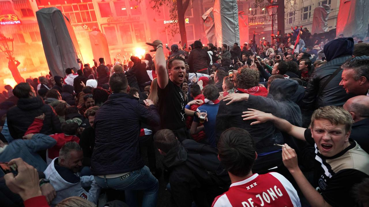 Supporters take to the streets of Amsterdam