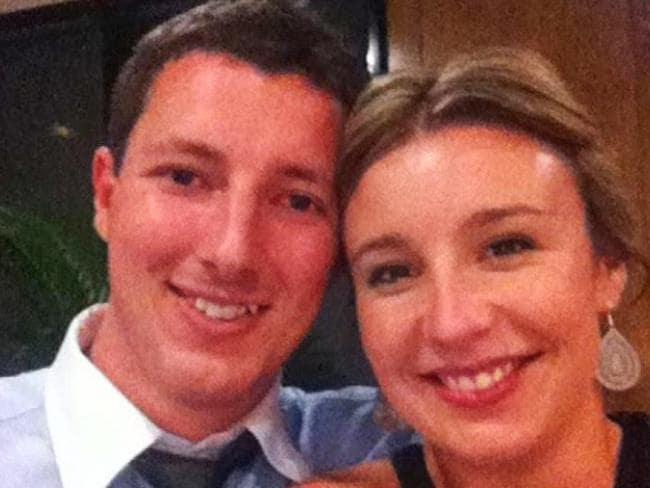 Aaron Leeson-Woolley and his fiancee Stephanie Scott.