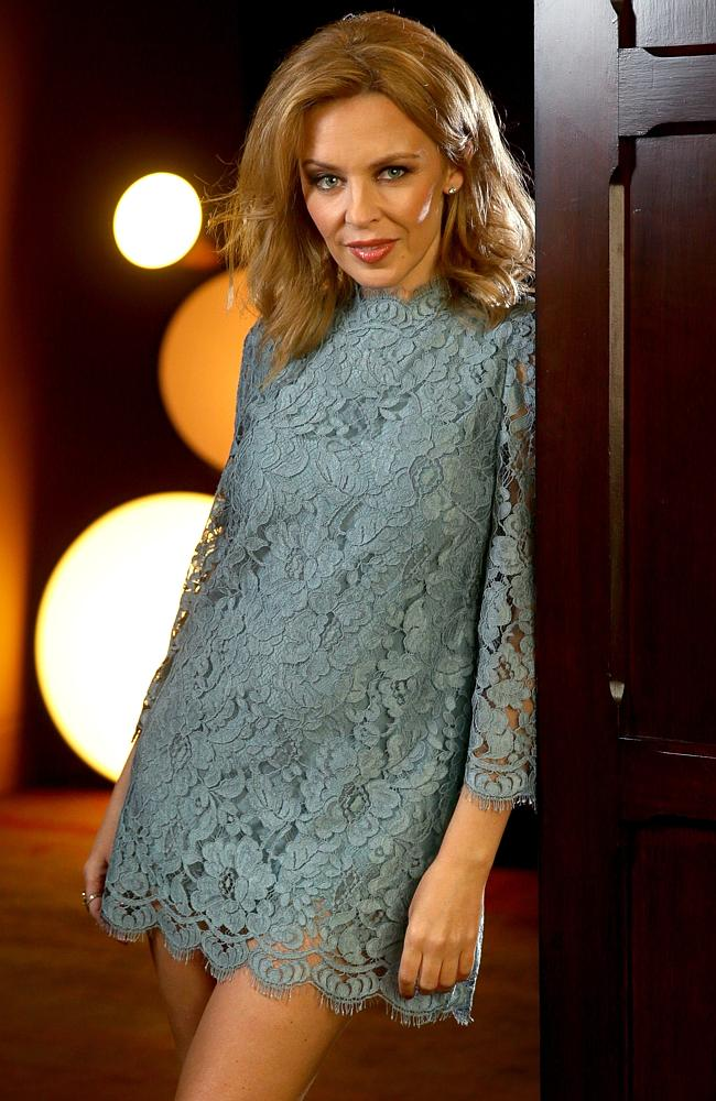 Pop legend ... Kylie Minogue has confirmed a rock urban myth about the song Suicide Blonde. Picture: Gregg Porteous