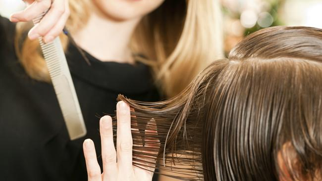 Hairdressers? salaries get the snip. Picture: Thinkstock