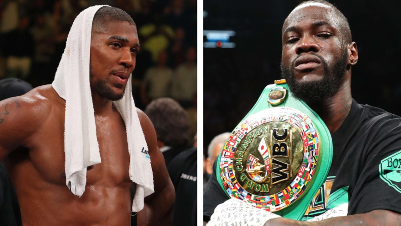 Anthony Joshua and Deontay Wilder.