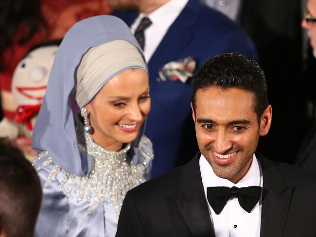 Waleed Aly thanked his wife, academic Susan Carland, for her support. Picture:Scott Barbour