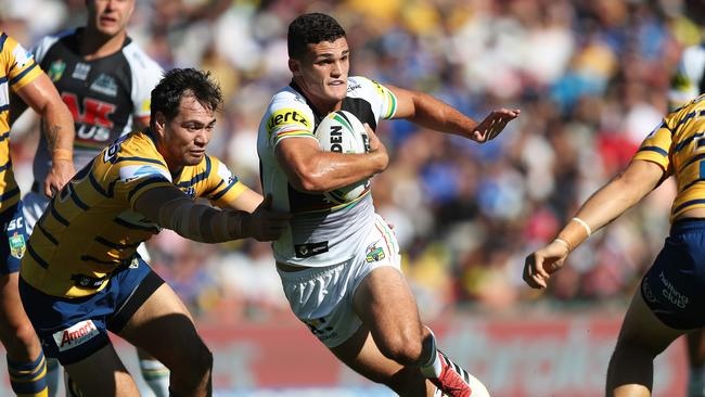 Nathan Cleary was integral in Penrith's comeback win over Parramatta in round one. Photo: Brett Costello