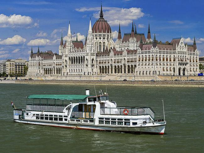 This undated photo of the 'Mermaid' tour boat on the Danube River. Picture: Zoltan Mihadak/MTI via AP