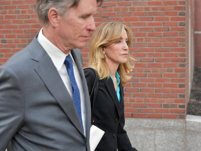 Felicity Huffman attended the hearing with her brother. Her husband William H. Macy was absent. Picture: Getty Images