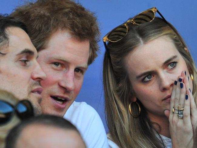 For two years, Harry and Cressida were inseparable. Picture: AFP PHOTO/GLYN KIRK
