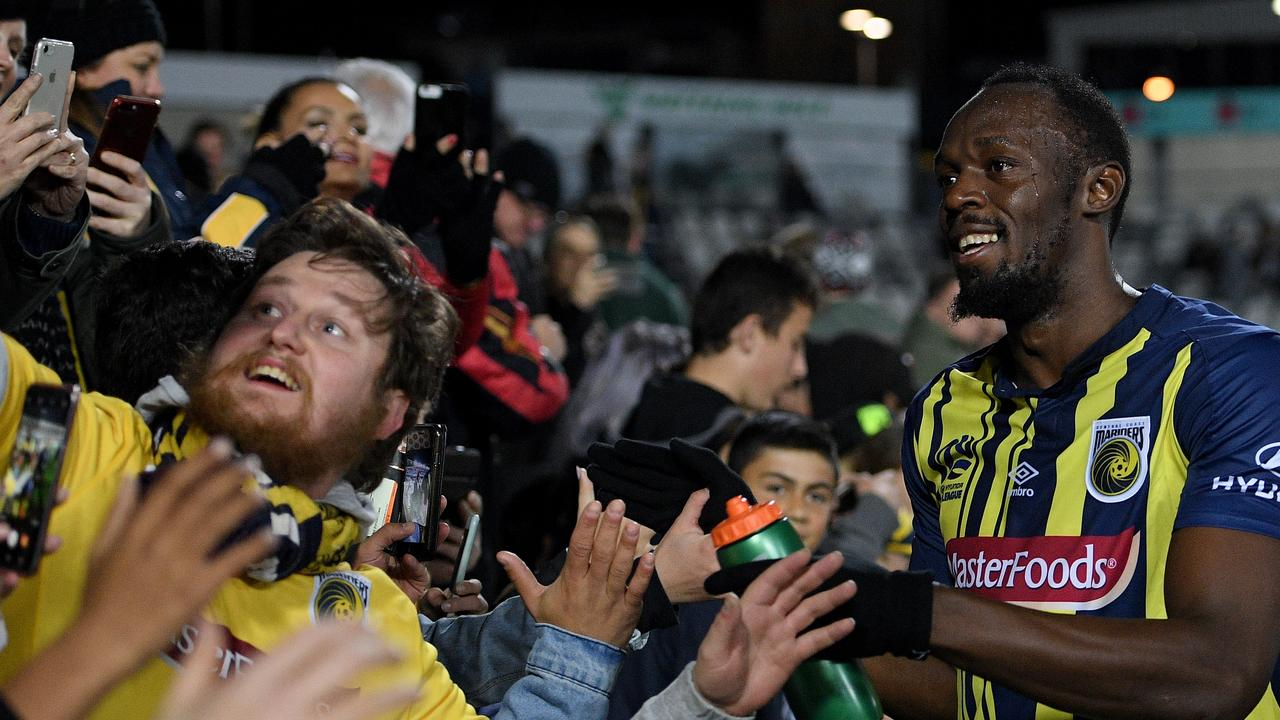 Safe smoke was trialled during Usain Bolt's friendly debut for the Central Coast Mariners.