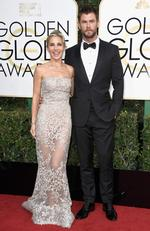 Chris Hemsworth and Elsa Pataky attend the 74th Annual Golden Globe Awards at The Beverly Hilton Hotel on January 8, 2017 in Beverly Hills, California. Picture: Getty