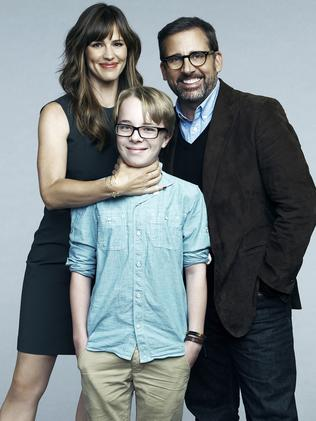 Previous life ... Oxenbould with his Alexander and the Terrible, Horrible ... parents Jennifer Garner and Steve Carell. Picture: Disney