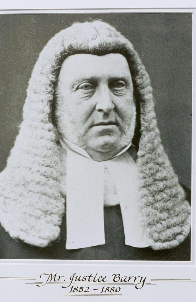 Sir Redmond Barry. Picture: Supreme Court of Victoria.