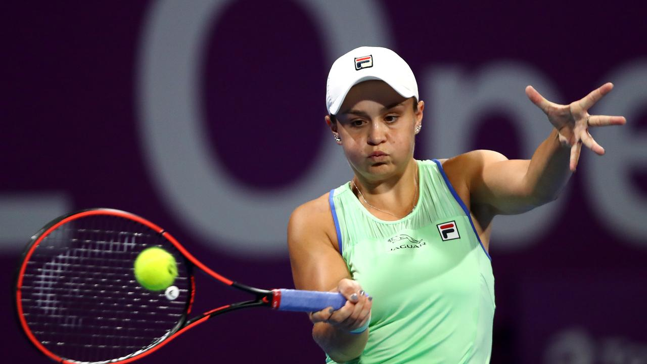 Barty cruised to a 6-3, 6-2 victory over her German opponent. (Photo by Dean Mouhtaropoulos/Getty Images)