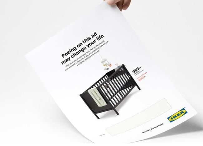 The new 'pee ad' for Ikea. Picture: Supplied