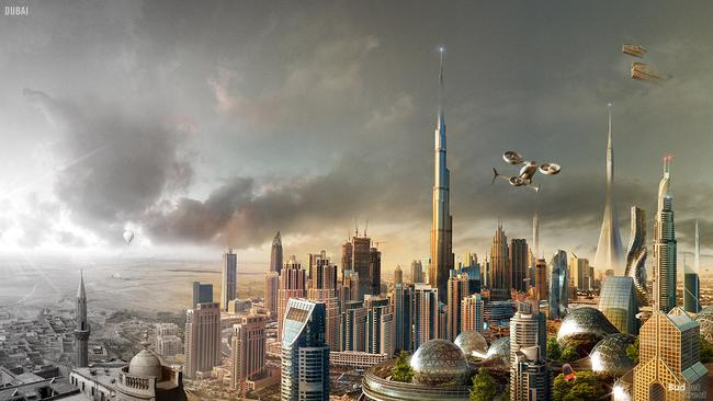 Dubai in the future. Picture: Budget Direct