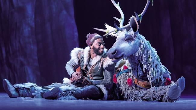 A scene from Frozen the Musical in New York. Picture: Deen Van Meer.