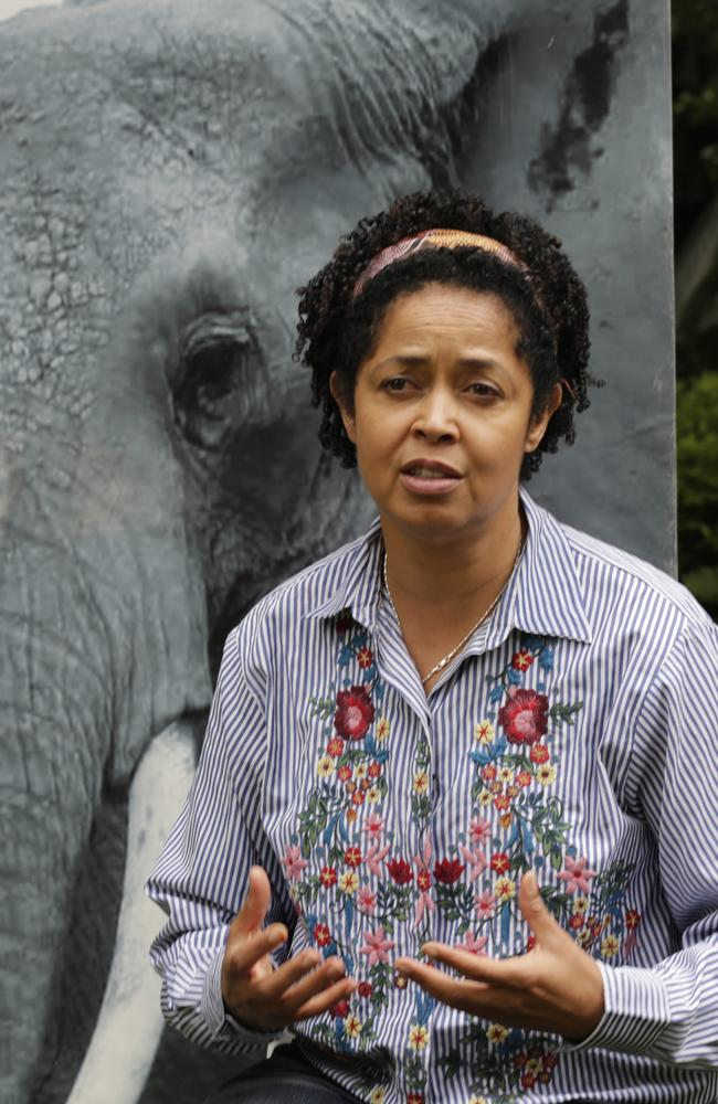 Paula Kahumbu, Chief Executive Officer of WildlifeDirect speaks to The Associated Press in Nairobi, Kenya Friday, July 13, 2018. Picture: Khalil Senosi)