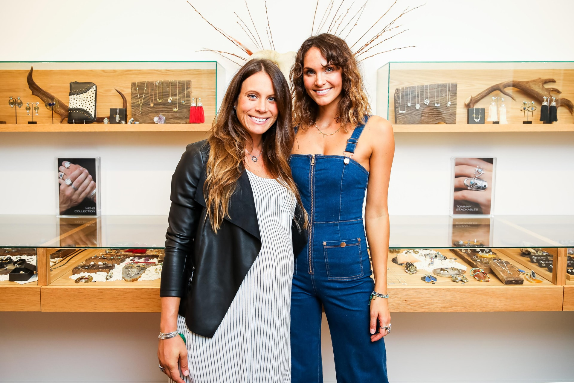 Alisha de Graaf and Laura Byrne at the ToniMay flagship store opening. Image credit: Supplied